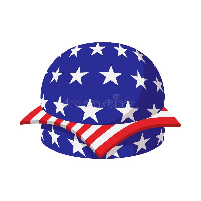 La Hamburguesa En Bandera Americana Colorea El Icono De La ...