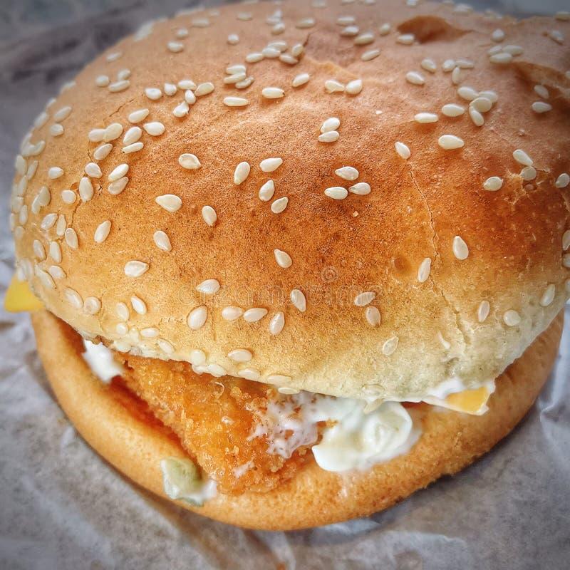 La hamburguesa es desayuno hoy imagen de archivo libre de regalías