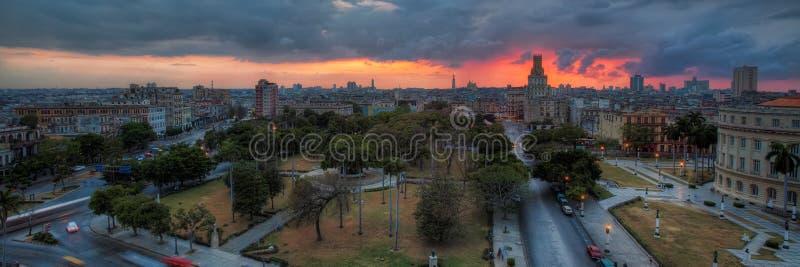 La Havane au coucher du soleil images libres de droits