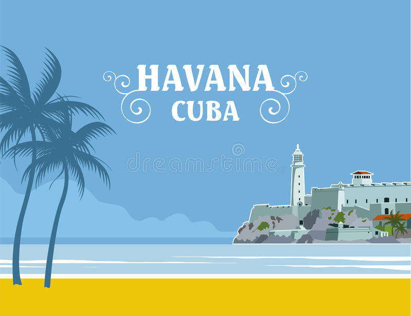 La Havane Cuba illustration libre de droits