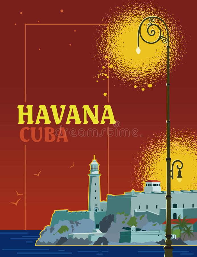 La Havane Cuba illustration stock