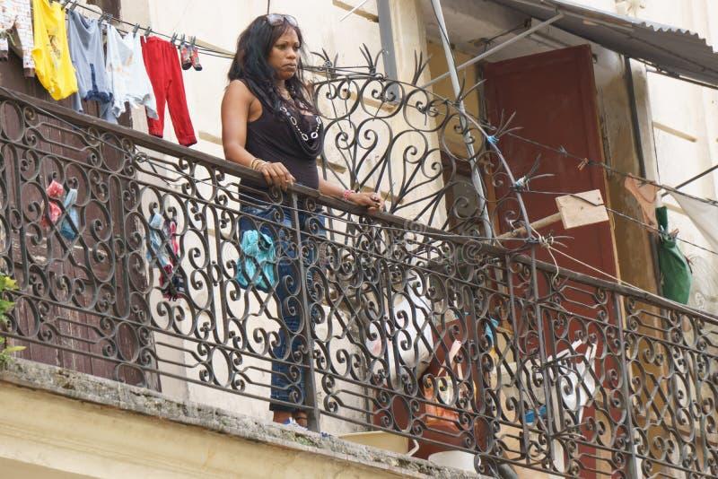 La Havane, Cuba - 9 janvier 2007 : les gens sur les rues de La Havane, Cuba image libre de droits