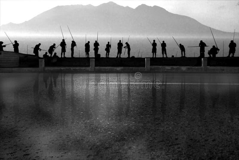 La Havane, Cuba, pêcheurs photographie stock libre de droits