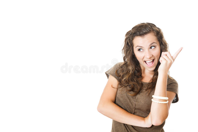 La hembra joven tiene una idea fotografía de archivo libre de regalías