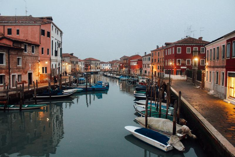 La hermosa vista en Venecia fotos de archivo libres de regalías