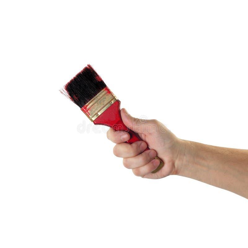La herramienta de los objetos da la acción - decoradores de la mano trabajador del cepillo del ` isola imagenes de archivo