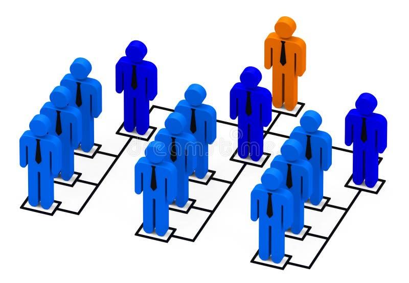 La hiérarchie illustration de vecteur