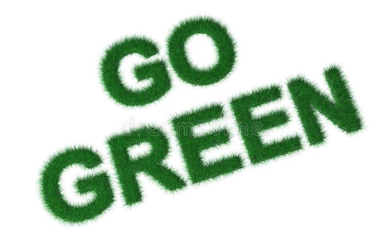 la hierba 3d va verde libre illustration
