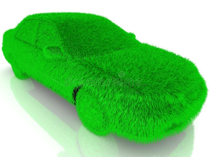La hierba cubrió transporte automotriz del verde del eco ilustración del vector
