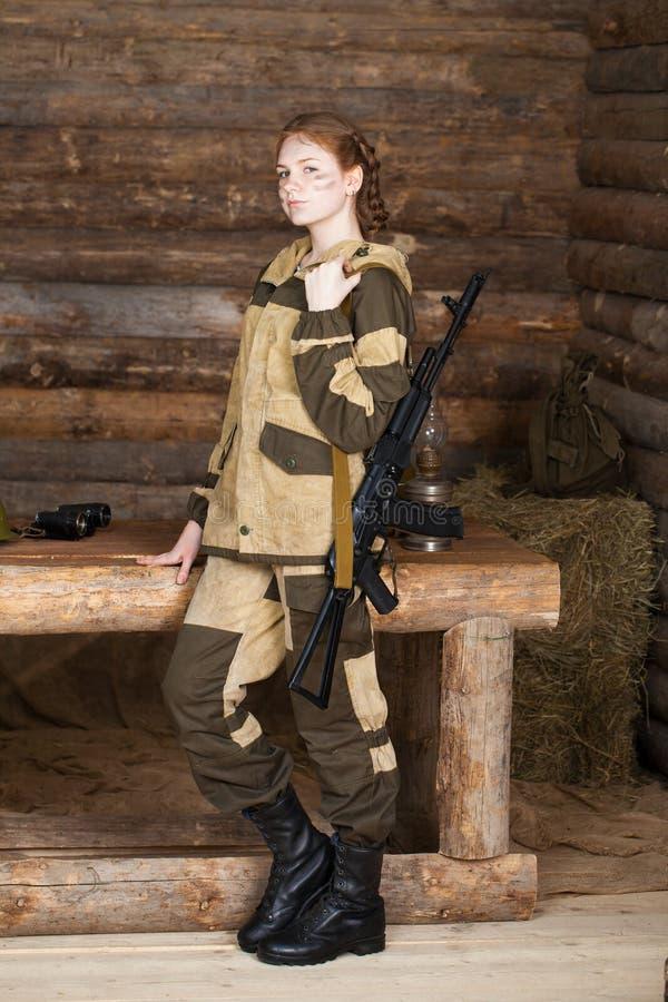 La hija de un cazador fotos de archivo