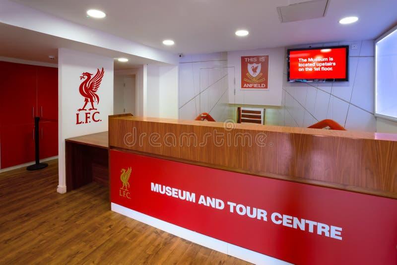 La historia de Liverpool FC, el museo de Liverpool FC en el Reino Unido fotos de archivo