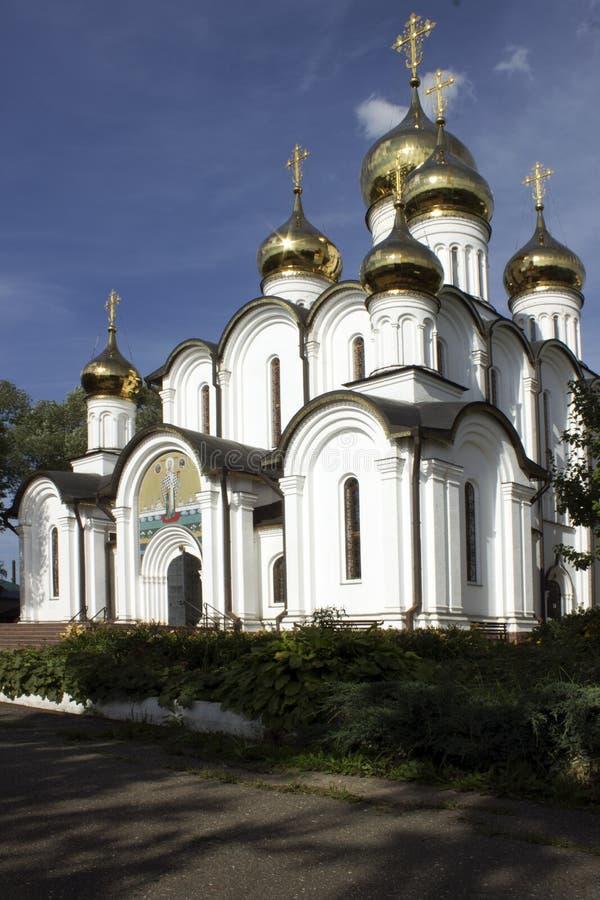 La historia de Pereslavl-Zalessky se bañó fotos de archivo