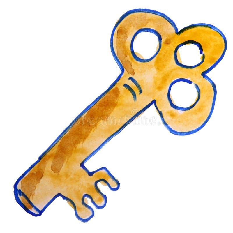La historieta del dibujo embroma llave de la acuarela en - La llave del hogar ...