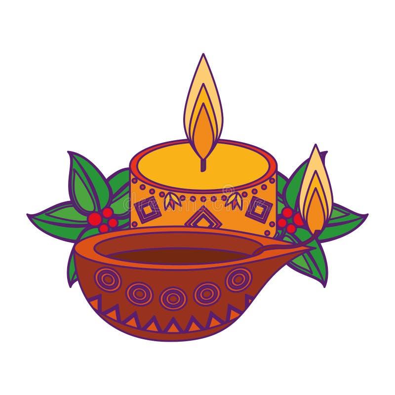 La historieta del icono de la vela del Lit aisló libre illustration