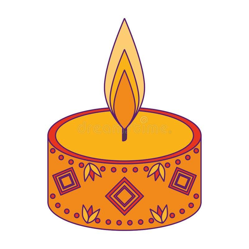 La historieta del icono de la vela del Lit aisló stock de ilustración