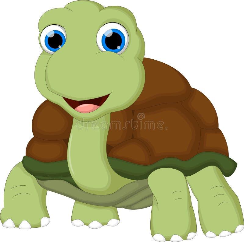 La historieta divertida de la tortuga con la muestra en blanco para usted diseña libre illustration