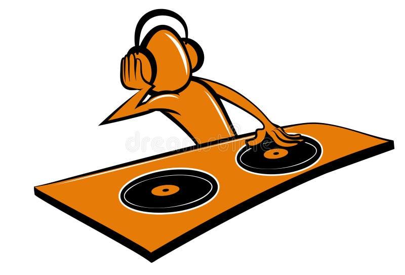 La historieta estilizada DJ diseña stock de ilustración