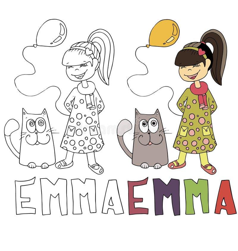 La Historieta Simple Del Dibujo Para La Imagen Que Colorea De Niños ...