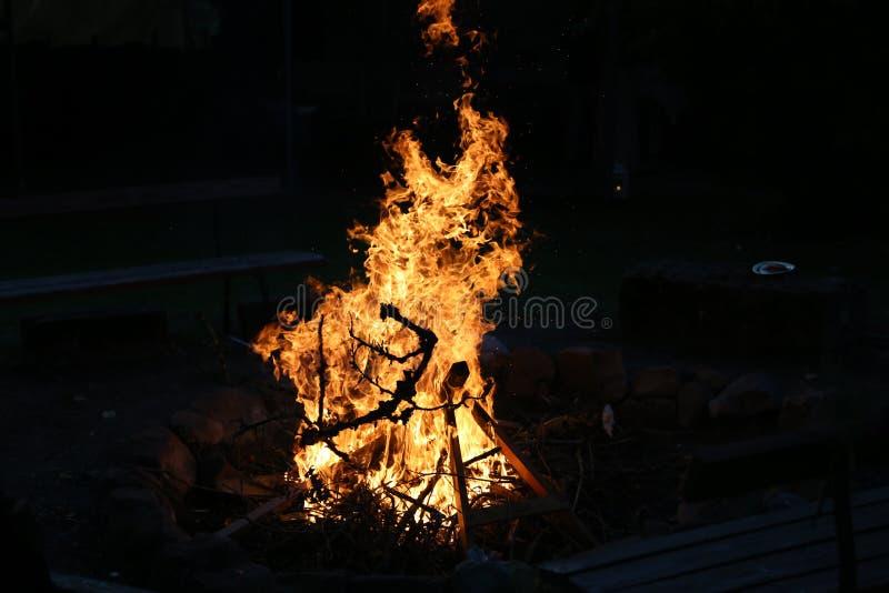 La hoguera en una noche de verano imagen de archivo libre de regalías