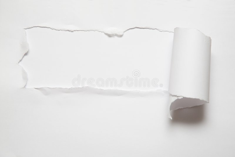 La hoja del papel rasgado imágenes de archivo libres de regalías