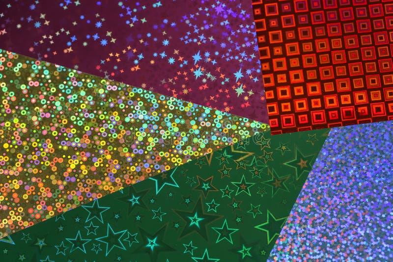 La hoja holográfica se rellena en toda la pantalla fotografía de archivo
