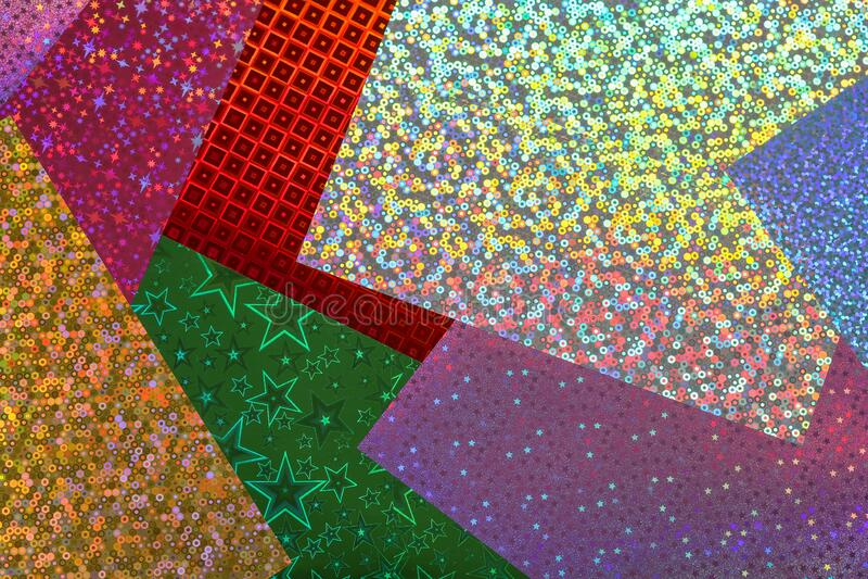 La hoja holográfica se rellena en toda la pantalla imágenes de archivo libres de regalías