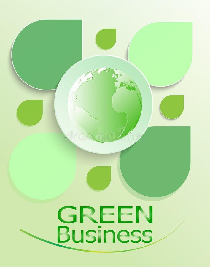 La hoja verde del fondo +Environment+Ecology+Earth +Green del negocio se va, vector foto de archivo
