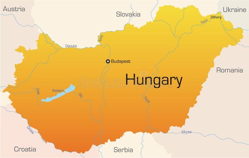 La Hongrie illustration stock