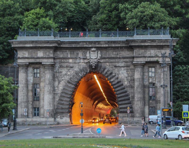 La Hongrie ; Budapest ; Le 14 mai 2018 ; L'entrée à Buda Castle Tunnel image libre de droits
