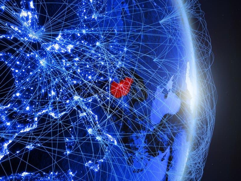 La Hongrie sur la terre numérique bleue bleue photo libre de droits