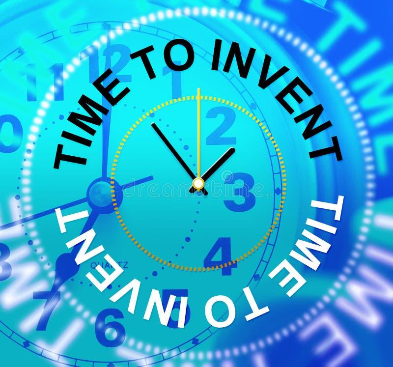 La hora de inventar indica que el concepto hace y las innovaciones stock de ilustración