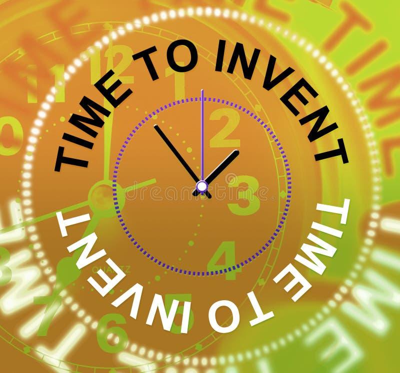 La hora de inventar innovaciones de los medios hace y las invenciones libre illustration