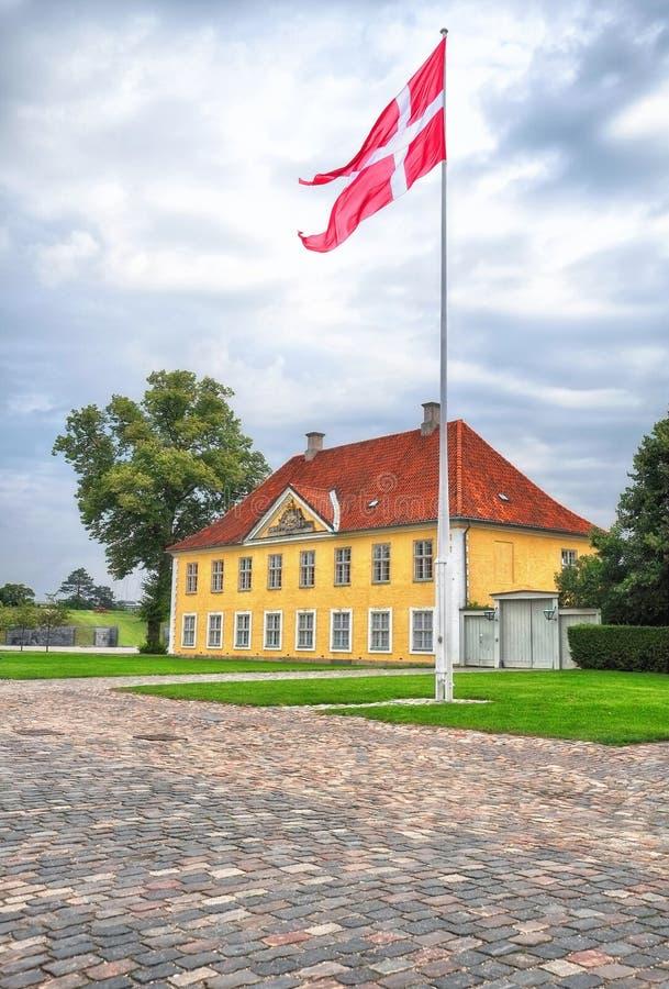 La House del comandante in Kastellet, Copenhaghen fotografie stock
