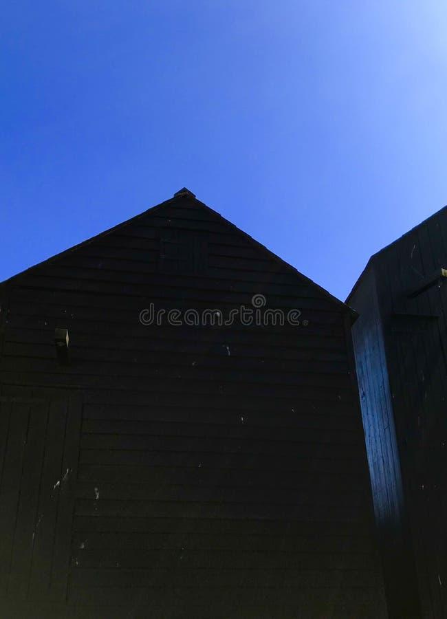 La hutte du pêcheur dans Hastings photo libre de droits