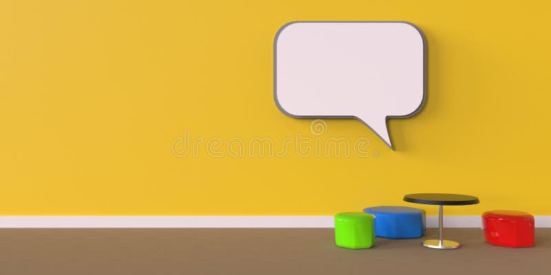 La idea del arte moderno y cuadro de texto de la vida y del sillón del color diseñan libre illustration