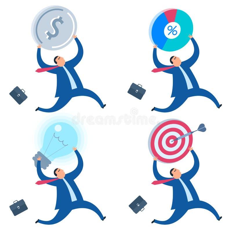 La idea del negocio, estrategia, illuct plano del concepto del vector de la solución libre illustration