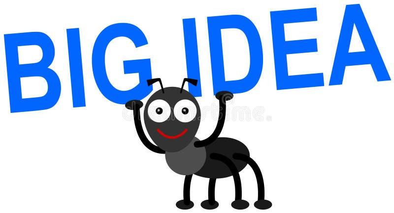 La idea grande de la hormiga stock de ilustración