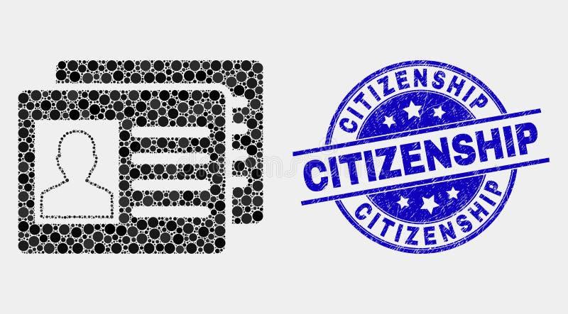 La identificación del usuario del pixel del vector carda la filigrana de la ciudadanía del icono y del Grunge libre illustration