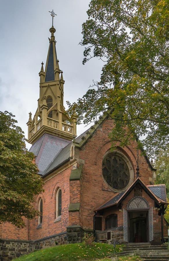 La Iglesia Anglicana del santo Lucas, Karlovy varía imagenes de archivo