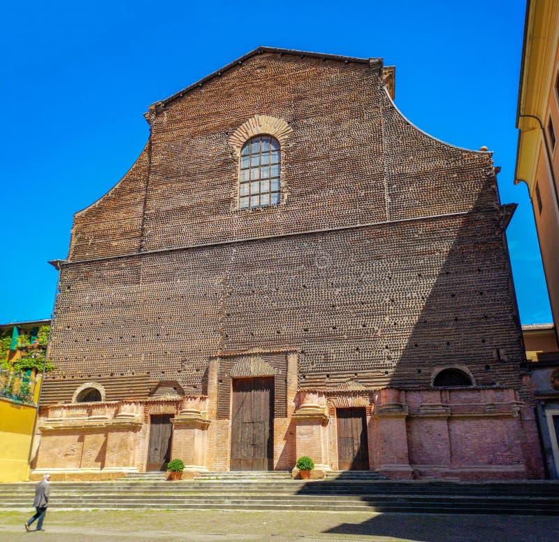 La iglesia anterior de Santa Lucia en Bolonia - Emilia Romagna - Italia imagen de archivo libre de regalías