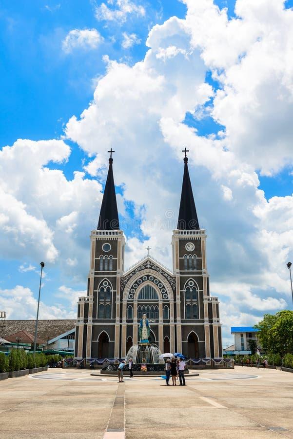 La iglesia católica romana en la provincia de Chanthaburi, Tailandia fotografía de archivo