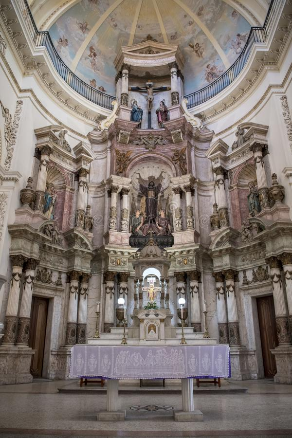 La Iglesia de圣阿古斯丁o旧金山el Nuevo哈瓦那,古巴 免版税库存照片