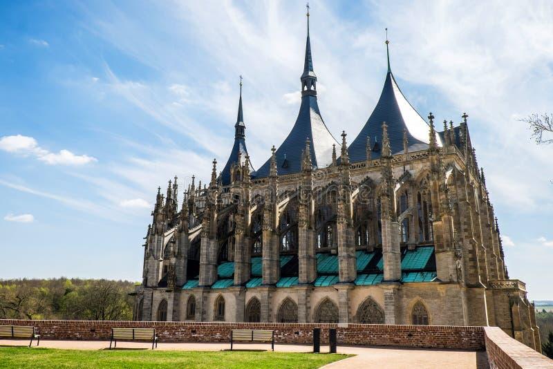 La iglesia de Barbara del santo, Kutna Hora, República Checa imagenes de archivo
