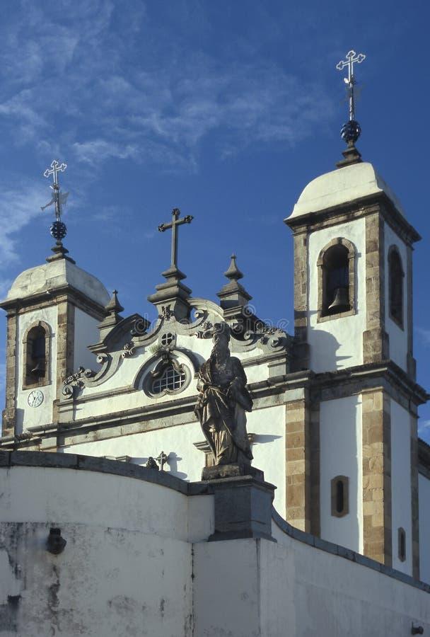 La iglesia de Bom Jesús hace Matozinhos en Congonhas, estado del minuto imagen de archivo