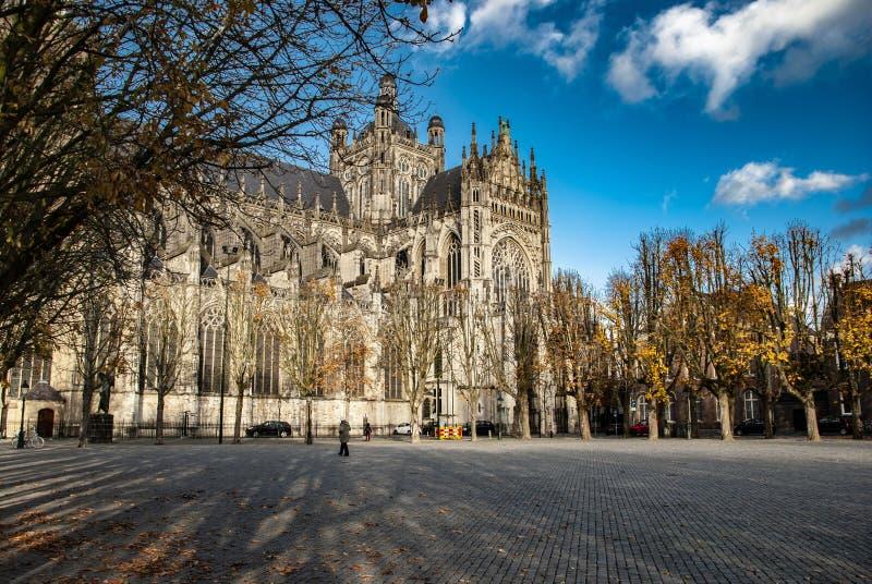 La iglesia de la catedral de St John en s-Hertogenbosch en los Países Bajos foto de archivo libre de regalías