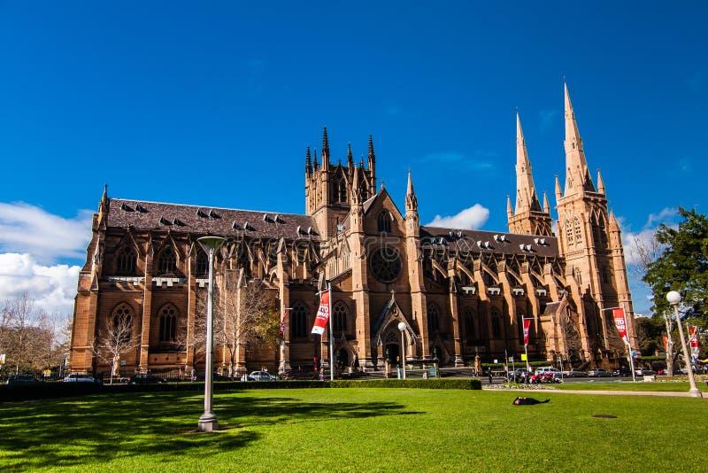 La iglesia de la catedral y la basílica de menor importancia de la madre inmaculada de dios, ayuda de cristianos, Sydney imágenes de archivo libres de regalías