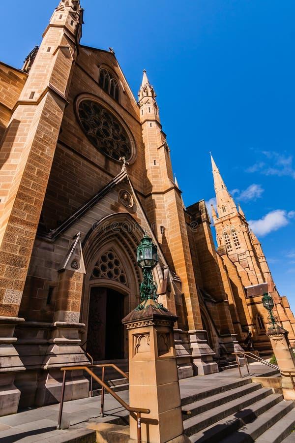 La iglesia de la catedral y la basílica de menor importancia de la madre inmaculada de dios, ayuda de cristianos, Sydney imagen de archivo libre de regalías