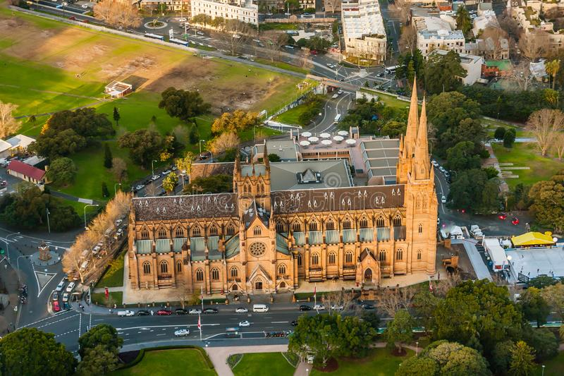 La iglesia de la catedral y la basílica de menor importancia de la madre inmaculada de dios, ayuda de cristianos, Sydney fotos de archivo