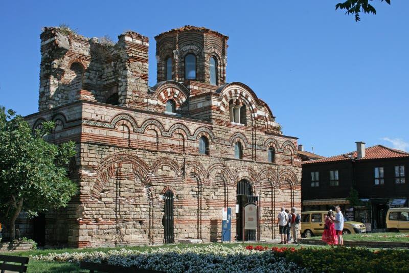 La iglesia de Cristo Pantokrator en Nessebar, Bulgaria imágenes de archivo libres de regalías