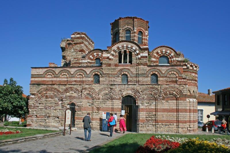 La iglesia de Cristo Pantokrator en Nessebar, Bulgaria fotografía de archivo libre de regalías